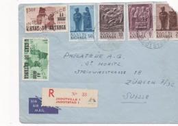 3084  Carta  Katanga  Certificada Jadotville I Jadotstad 1961 - Katanga
