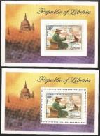 B)1975 LIBERIA, PAINTER, SIR WINSTON CHURCHILL (1874-1965), BIRTH CENTENARY, SOUVENIR SHEET OF 2, MINT - Liberia