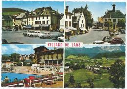 CPSM SOUVENIR DE VILLARD DE LANS, AUTOS VOITURES ANCIENNES, ISERE 38 - Villard-de-Lans