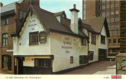 Ye Olde Salutation Inn, Nottingham, Nottinghamshire, England Postcard Unposted - Nottingham