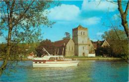 River Thames, Bisham Church, Berkshire, England Postcard Unposted - England