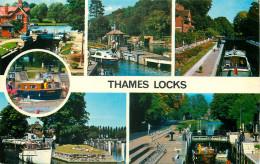 Thames Locks, Berkshire, England Postcard - England