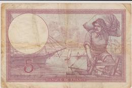 CINQ FRANCS 1933 - 5 F 1917-1940 ''Violet''