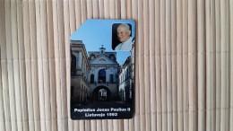 Phonecard Lietuvos Pope Used Rare - Lithuania