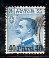 T1092 - LEVANTE 1908 , Sassone N. 15  Used - Bureaux Etrangers