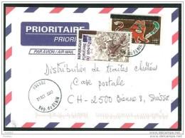 COVER BENIN TO SWITZERLAND (OUESSE TO BIEL/BIENNE 31.10.2003) US REVOLUTION COAT OF ARMS - Benin – Dahomey (1960-...)