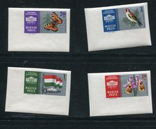Hungary 1961 Mi 1765-8 Sc 1392-9 MH Imperf Background In Silver Cv 17 Euro - Unused Stamps