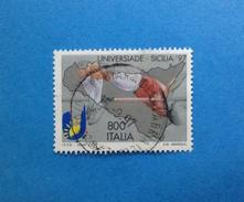 1997 ITALIA FRANCOBOLLO USATO STAMP USED - UNIVERSIADE IN SICILIA DA 800 SALTO IN ALTO - - 6. 1946-.. Repubblica