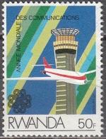 Rwanda 1984 Michel 1264 O Cote (2005) 0.70 Euro Avion Cachet Rond - Rwanda