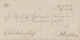 Brief L2 Ruppin 11.3. Gel. Nach Straußberg - Deutschland