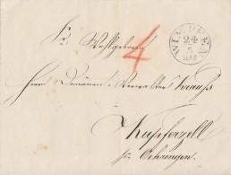 T&T Brief K1 Wimpfen 24.5.1845 Gel. Nach Kupferzell - Thurn Und Taxis