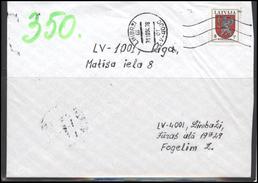 LATVIA Brief Cover  Postal History LV 207 LIMBAZI Machine Cancellation Vidzeme Coat Of Arms - Lettonie