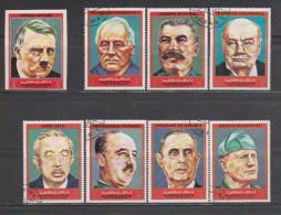 United Arab Emirates,Ajman,Presidents ,8stamps,( Imperf MNH),(Perf Cancelled) . - Ajman