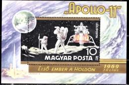 Hungary 1969 Mi Bl 72A MNH - Space