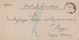 DR Brief K2 Paderborn 17.7.74 Gelaufen Nach Bigge - Duitsland