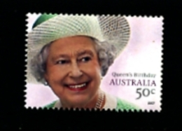 AUSTRALIA - 2007  QUEEN'S  BIRTHDAY  MINT NH - 2000-09 Elizabeth II
