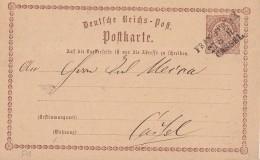 DR Ganzsache Bpst. L3 Frankfurt M. - Cassel - Deutschland
