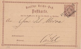 DR Ganzsache Bpst. L3 Frankfurt M. - Cassel - Briefe U. Dokumente