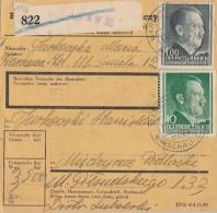 GG Paketkarte Mif Minr.74,86 Warschau 11.2.44 Ankunftsstempel - Besetzungen 1938-45