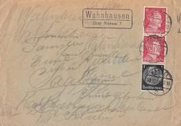 DR Brief Mif Minr.512,2x 788 Kassel 3.10.41 Lpst Wahnhausen über Kassel 7 Zensur - Deutschland