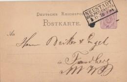 DR Ganzsache R3 Neustadt Rg. Bez. Cassel 3.11.76 - Deutschland