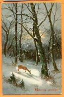 J215, Biche Dans A Forêt, 997 , Circulée 1911 - Nouvel An
