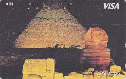 Télécarte Japon - SERIE TOURISME VISA - EGYPTE / Sphinx & Pyramide - EGYPT Rel. Japan Phonecard - Telefonkarte - Site 11 - Landschappen