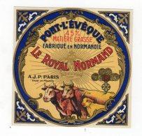 Nov16  1420276  étiquette Pont L´évèque  Le Royal Normand - Cheese