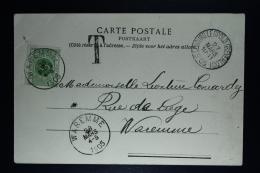Belgium Picture Postcard Bourg-Léopold  Beverloo To Waremme , 1905 OPB TX 3 - Strafportzegels
