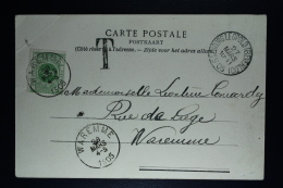 Belgium Picture Postcard Bourg-Léopold  Beverloo To Waremme , 1905 OPB TX 3