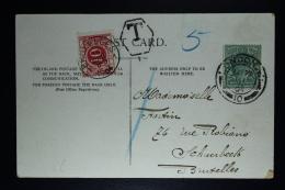 Belgium Picture Postcard London To Schaerbeek Brussels , 1904 OPB TX 5 - Strafportzegels