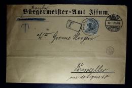 Belgium Cover Issum To  Brussels , 1912 OPB TX 9 - Portomarken