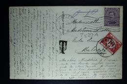Belgium Picture Postcard Charleroi To Malonne, 1921 OPB 139 + TX13