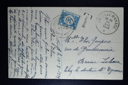 Belgium Picture Postcard Fayt-lez-Manage , 1922 OPB TX30 - Strafportzegels