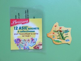 Magnet - Savane Brossard - Carte De L'Asie - La Chine - Le Crocodile - Animaux & Faune