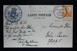 Belgium Card Procureur Gent To Berlin Very Early Use 17-10-1914 K.O. Feld Postexped. OB. KOMM IV ARMEE  SB Oberkom. D.IV