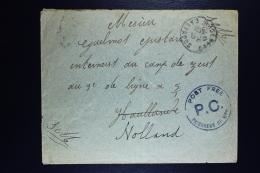 Belgium Cover Belgium Army Cancel Calvados To Camp Zeist Holland Cancel Post Free.. + Door Militaire Censuur - Guerre 14-18