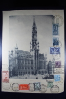 Belgium  Large Picture Os Brussels With Multiple Stamps From Different Countries From 1927 To 1930 - België