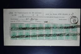 Belgium Spaarblad  Vise 13-6-1885