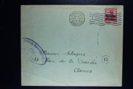 Reich Occupation Belgium Cover Brussels To Antwerp 1915 Mi Nr 3