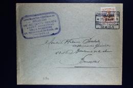 Reich Occupation Belgium Cover Courtrai Gent To Brussels  Mi Nr 15  Square Cancel Gent - Bezetting 1914-18