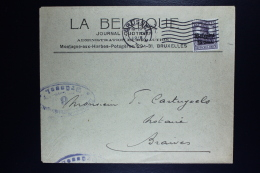 Reich Occupation Belgium Cover Brussels To Braives 1918  Mi Nr 16