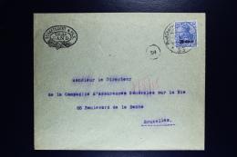 Reich Occupation Belgium Etappengebiet West Cover Gent To Brussels 1918  Mi Nr 6