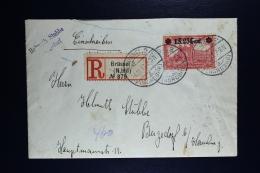 Reich Occupation Belgium Registered Cover Brussels To Bergedorf Hamburg  1917 Mi Nr 11 Ib   25:17 (OPB 36a)