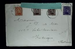 Belgium Cover Panne To Rotterdam 11-12-1915  OPB 135 + 136 + 139