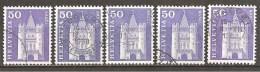 Schweiz 1960 // Mi. 704 O 5x (018..299) - Suisse