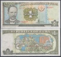 1995-BK-100 CUBA 1$ JOSE MARTI. EMISION DEL PERIODO ESPECIAL. 1995 UNC PLANCHA - Cuba