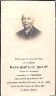 Gesves/Recogne - Brahy Marie.Hort.  1862/1939 - Devotion Images