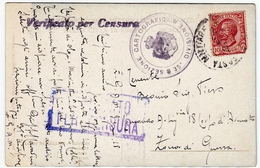 POSTA MILITARE - 1918 - TIMBRO 35à DIVISIONE SEZIONE CARTOGRAFICA - Vedi Retro - Formato Piccolo - Guerra 1914-18