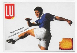 FOOTBALL - BIXENTE LIZARAZU - PUBLICITE PETIT BEURRE -  CPM GF NON VOYAGEE - 75 - Football